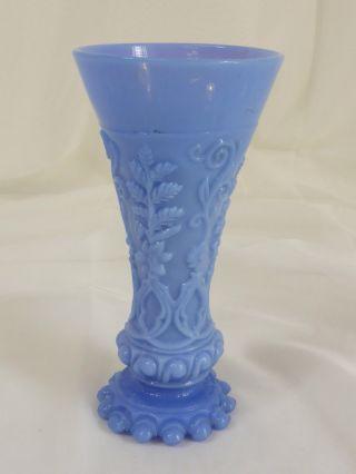 Opalinglas Vase Opak Violett Pressglas Formglas,  Relief Ranken,  17,  5 Cm Bild