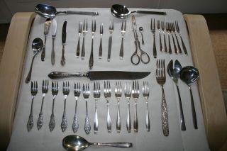 Silber Konvolut - 3,  4 Kg - Bsf 90,  Bsf Edelstahl 18/8,  Wilkens 800 Etc. Bild