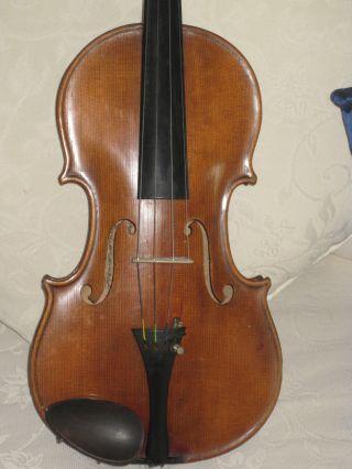 Alte Deutsche Violine Geige Ins.  (rudolf Heckel 1898) Bild