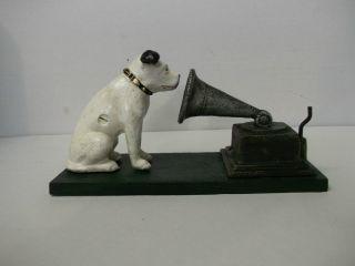 His Master ' S Voice - Hund Mit Grammophon - Neuwertiges Replikat Bild