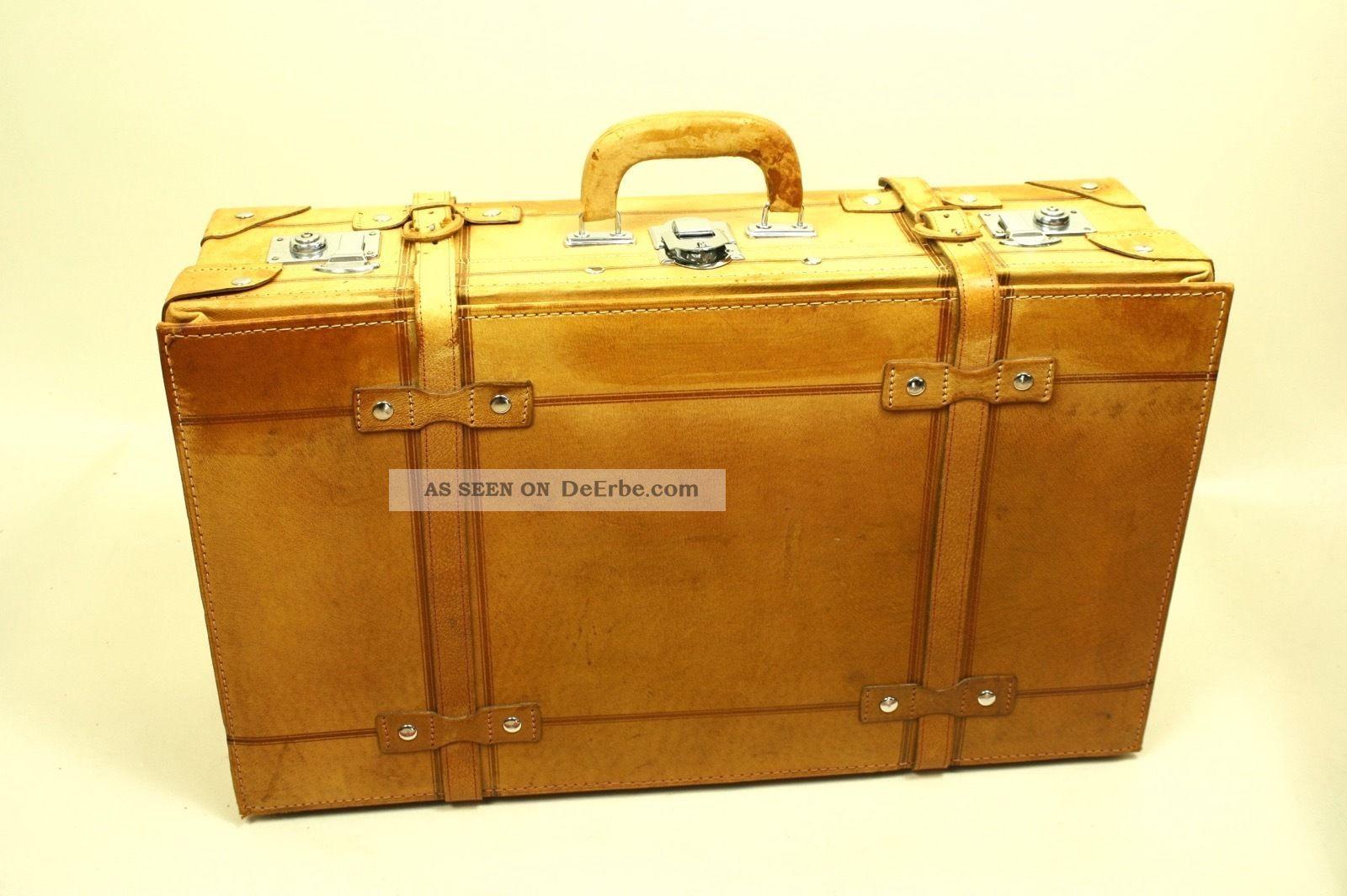 Ko68 Lederkoffer Koffer Leder Cognac Braun Oldtimer Vintage 68 X 40 X 22 Accessoires Bild