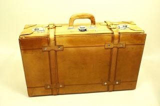 Ko68 Lederkoffer Koffer Leder Cognac Braun Oldtimer Vintage 68 X 40 X 22 Bild