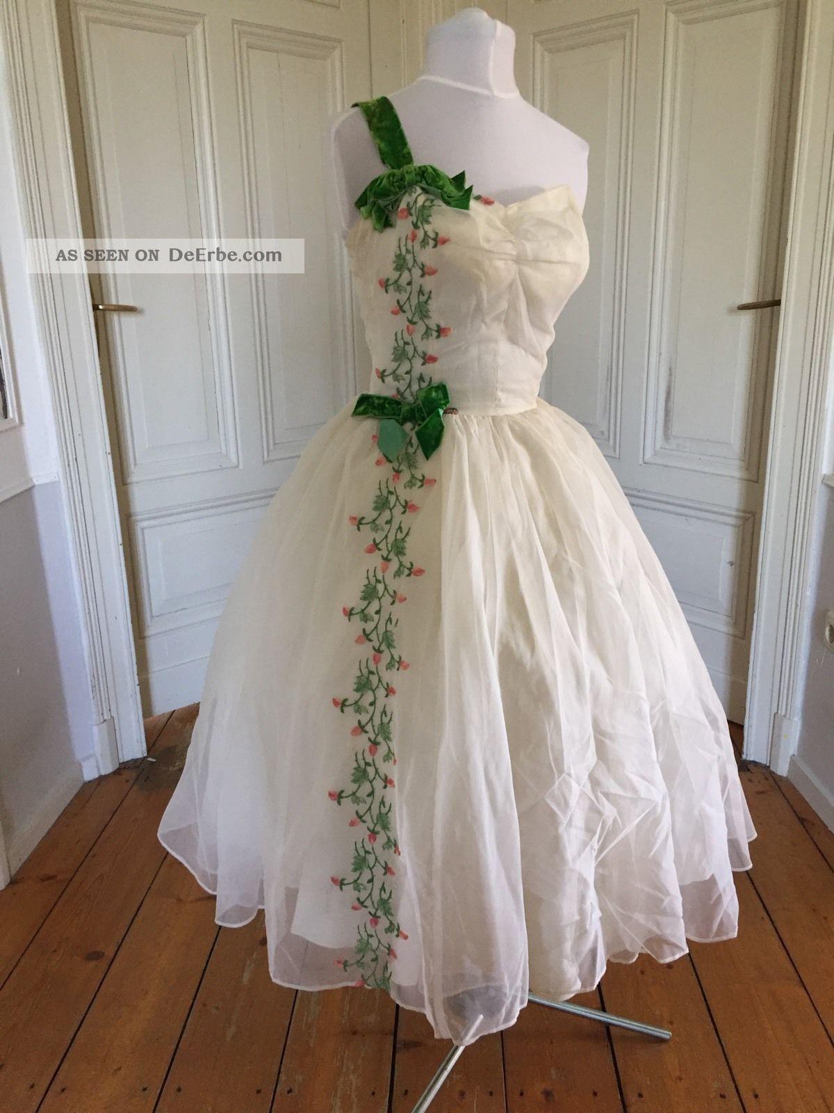 Entzückendes True Vintage 1950 Er Ball Kleid Kleidung Bild