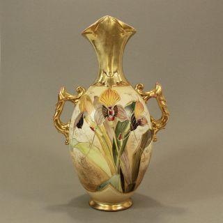 Jugendstil Porzellan Prunk - Vase Robert Hanke Austria Art Nouveau Porcelain Bild