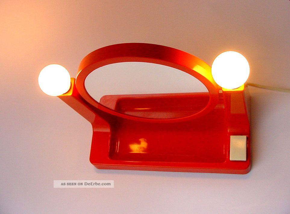 schminkspiegel spiegel vintage beleuchtet 70er jahre panton colombo ra lampe. Black Bedroom Furniture Sets. Home Design Ideas