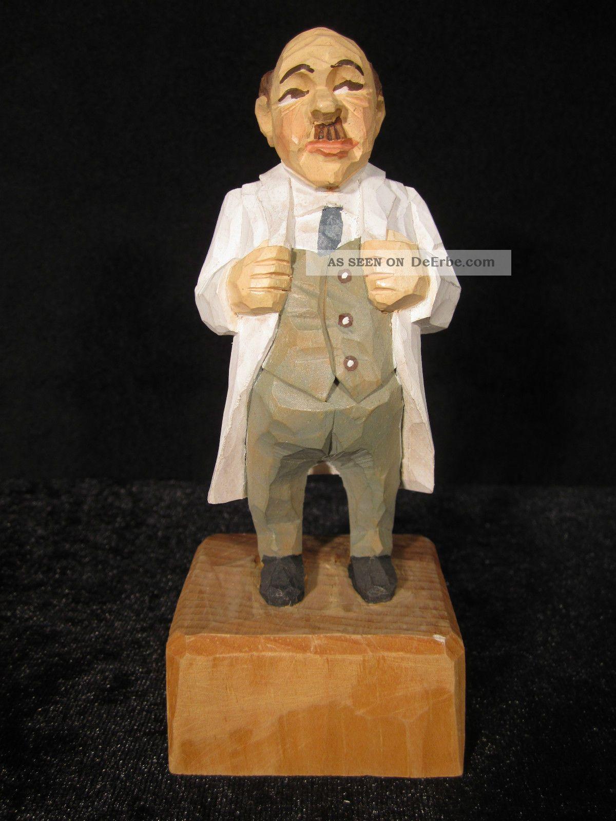 Chef - Arzt,  Handgeschnitzt,  Linde,  Ca.  15 Cm,  Farbig Bemalt,  Der Nächste Bitte. Arzt & Apotheker Bild