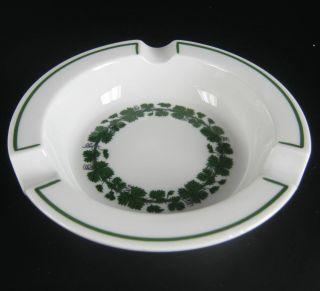 Meissen Porzellan Aschenbecher Serie Weinlaub 1.  Wahl Porcelain Ashtray 12,  5cm Bild