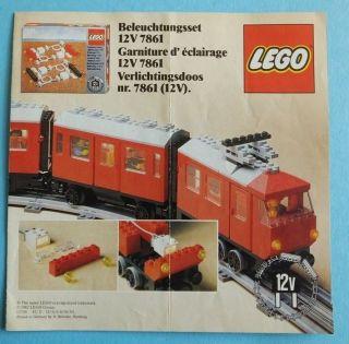 1982 Lego Prospekt Eisenbahn Beleuchtunsgset 12 V 7861 Printed In Germany Bild