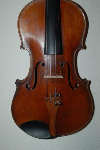 Alte 4/4 Violine,  Geige,  Spielfertig Mit Label & Brandstempel, Bild