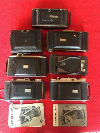 Sammler AuflÖsung 7 Antike Balgen Kameras Bilder Ansehen - Agfa Kodak Brownie Etc Bild
