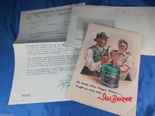 Preisliste 1943 Bayer Ag Berlin Ceresan Pflanzenschutz Morkit Gegen Vogelfraß Bild