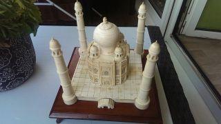 Filigrane Beinarbeit Grosse Mosche/tempel Feinste Schnitzerei Bild