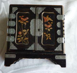 Antikes Japanisches Lackschränkchen - Rarität Bild