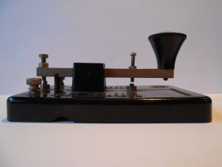 Morseapparat Morsetaste Schreibtelegraf Bakelit Merit England Bild