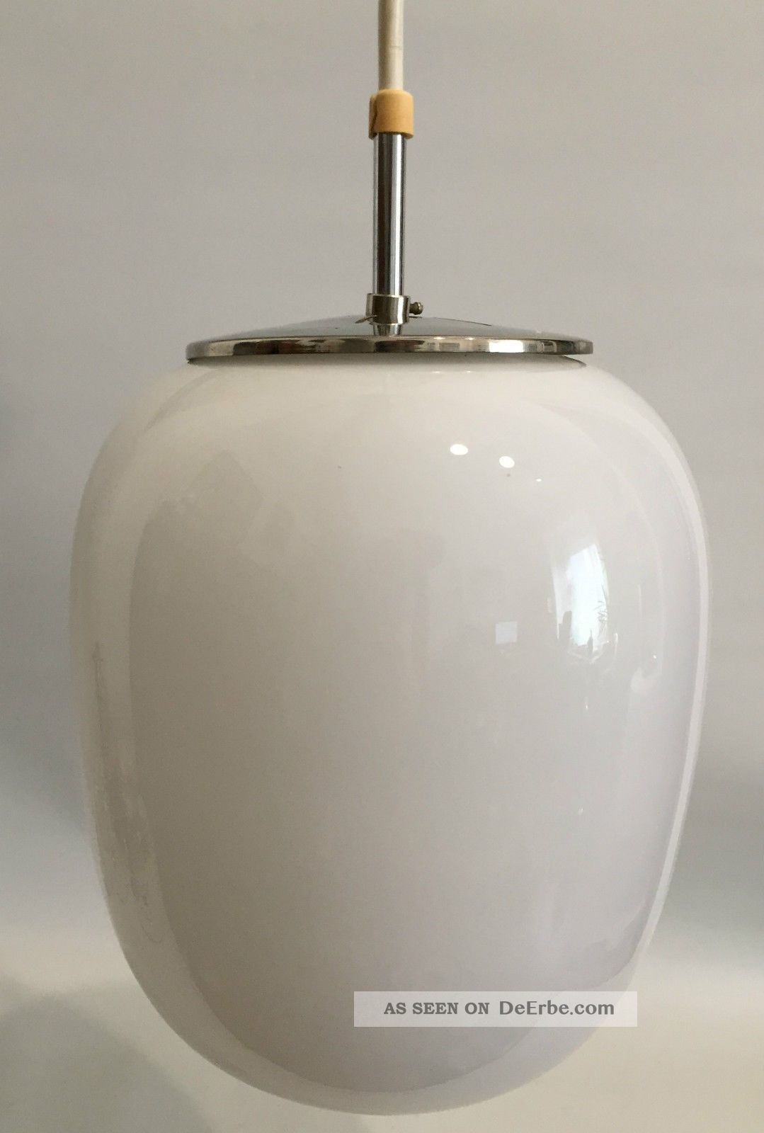 Peill Putzler 50er Wilhelm Wagenfeld Design Opalglas Lampe 50s