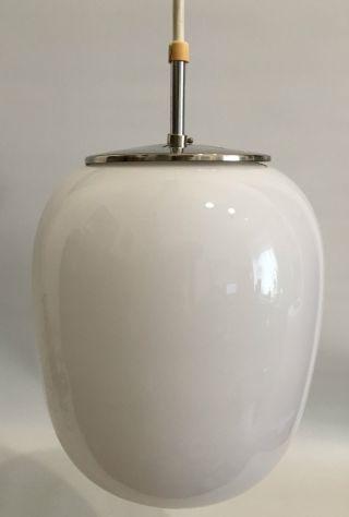 Peill & Putzler 50er Wilhelm Wagenfeld Design Opalglas Lampe 50s Lamp Pillenform Bild