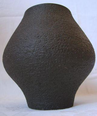 Keramik Vase Mit Rauer Oberfläche,  Mit Marke Der Hamelner Töpferei (106/ii) 80er Bild
