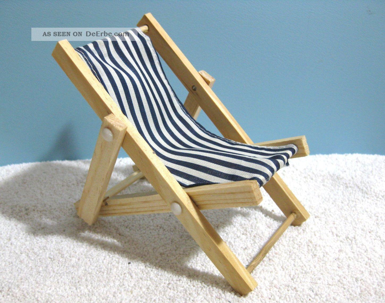 mini deko liegestuhl handyhalter blau weiss gestreift ca. Black Bedroom Furniture Sets. Home Design Ideas