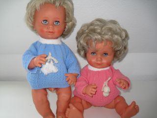 Götz Babypuppe Geschwisterpaar 60/70ern Gute Erhalten Brüderchen,  Schwesterchen Bild