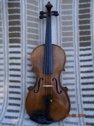Antike Violin Violino Violon.  Violine Geige 4/4 Sehr Schön Im Klang Bild
