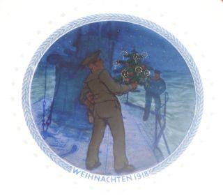 Rarität: Weihnachtsteller 1918 - Kpm Berlin - Zeptermarke - Eisernes Kreuz Bild