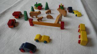 Holz - Autos,  Holztiere,  60er Jahre,  Wahrscheinlich Von Dusyma Bild