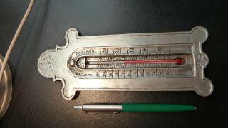 Dekorativer Thermometer Zinn Mehrfach Gemarkt Bild