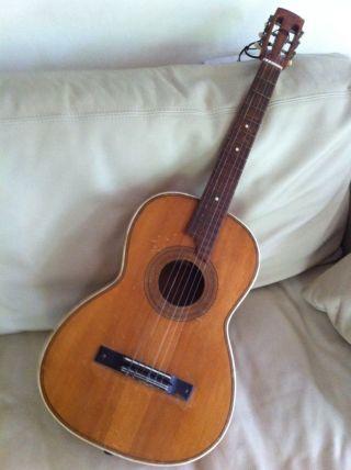 Alte Vintage Gitarre Dachbodenfund Hersteller Unbekannt Bild