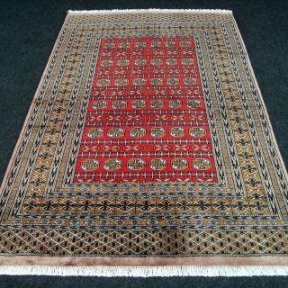 Feiner Orient Teppich Buchara 184 X 125 Cm Handgeknüpft Bukhara Carpet Rug Tapis Bild