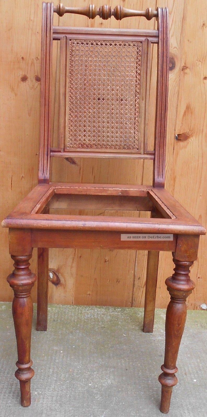 Walzenstuhl Grunderzeit Holz Stuhl Ohne Sitz Geflecht