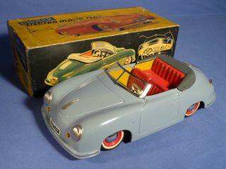Distler Porsche 356 Elektro Matic 7500 Grau Fernlenkwelle Anleitung 50 ' S Tin Toy Bild