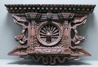 Fein Geschnitztes Relief 35 X 23 Cm Thailand Dunkles Holz Alter Unbekannt Bild