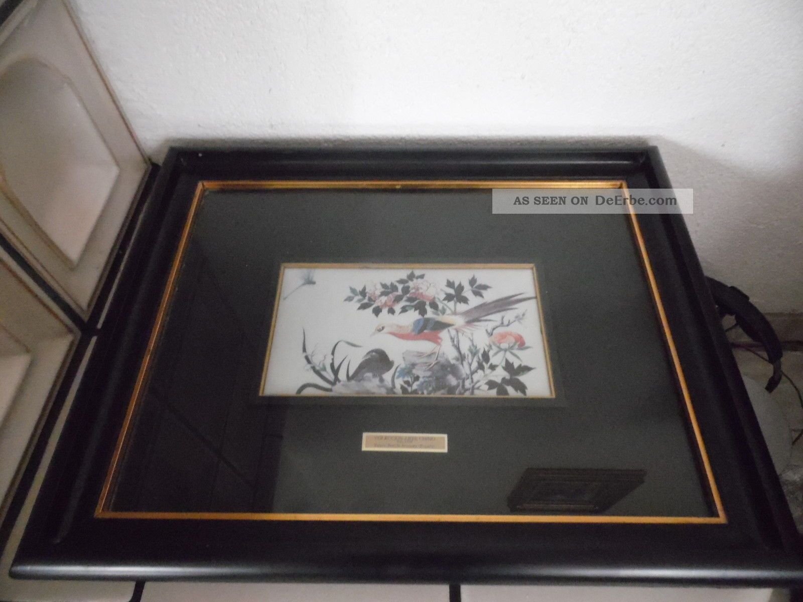 Chinesische Seiden Malerei In Hochwertige Bilderrahmen