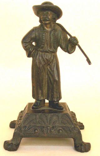Skulptur Weinbauer,  Winzer Guss/eisenguss Joseph Glanz Wien Sign.  Glanz M.  Vorb. Bild