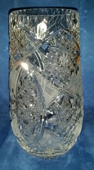 Vase Kristallvase Groß Handschliff 24 Lead Crystal Sudety Bleikristall Bild