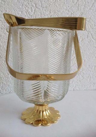 Vintage Eiswürfelbehälter Bar Eiseimer Eiskübel Mit Zange,  Nagel Glas Bild