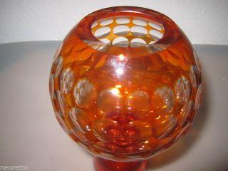 Veb Harzkristall Derenburg Vase Entwurf Marita Voigt Space Age Ufo Vase 70`s Bild