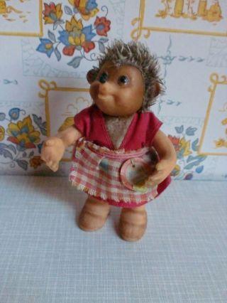 Steiff - Igel Mucki,  Mecki.  Hörzu Werbung,  Alte Spielzeug Figur Bild