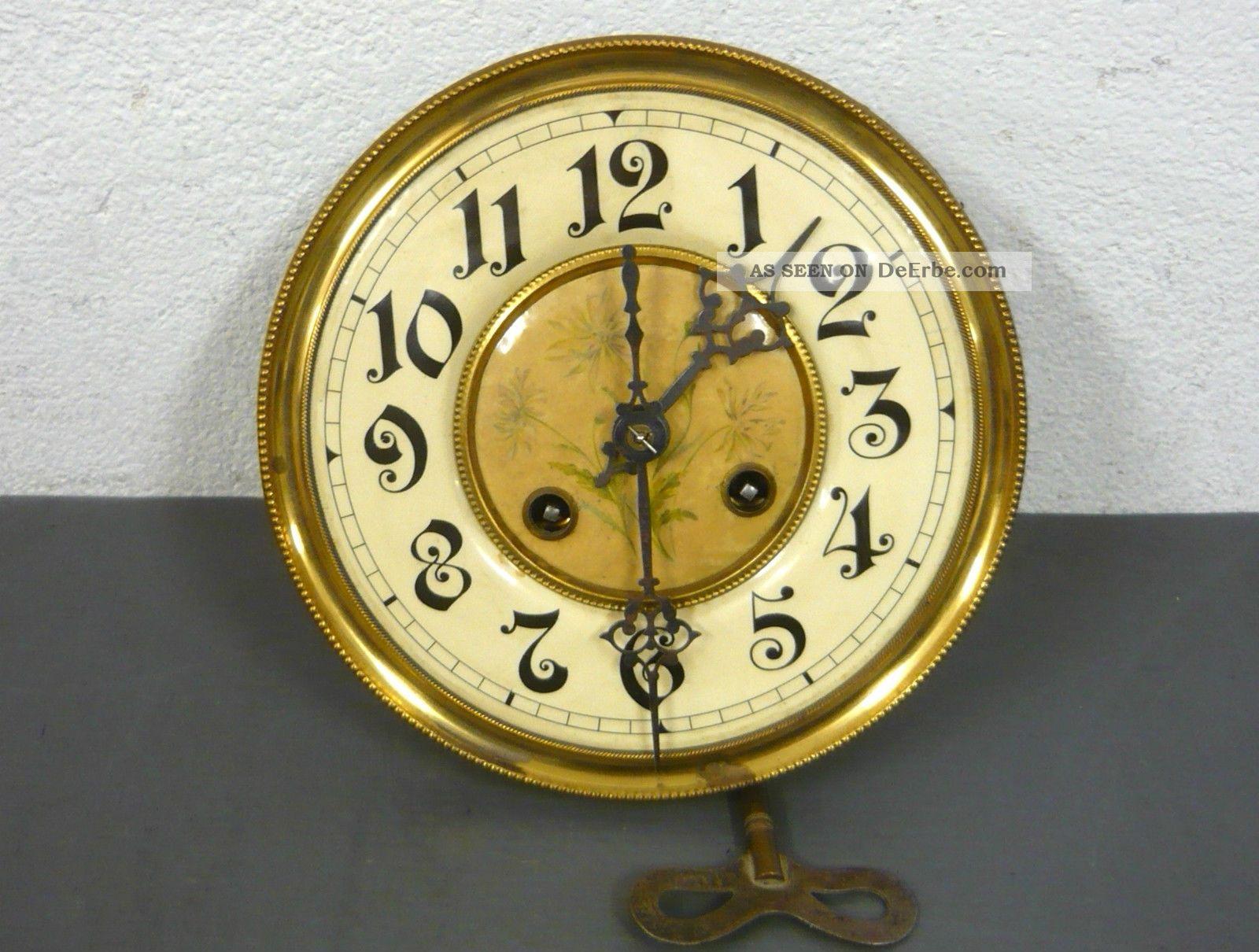 Antike wanduhr freischwinger jugendstil um 1900 mit adler gong - Antike wanduhren ...