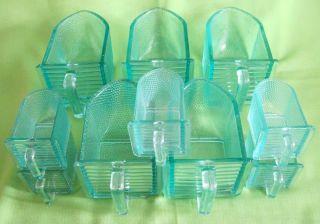 Antike Vorrats/ Glasschütten - Farbiges Glas - 5 Große,  5 Kleine Gefäße/ 1 Bild