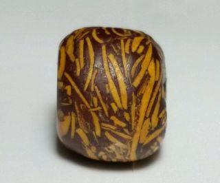 Ancient Rare Fossil Stone Bead Bild