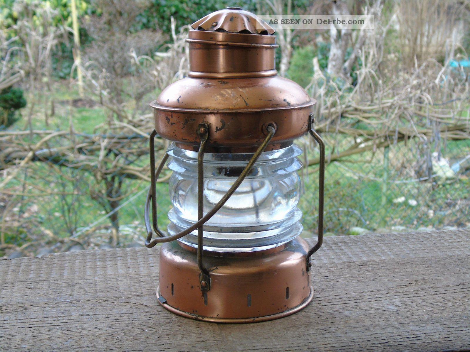 alte schiffslaterne kupfer glas marine lampe 1 2kg. Black Bedroom Furniture Sets. Home Design Ideas