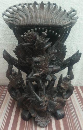 Garuda Holz Skulptur Götterbote Asien Asiatika China Indien Feine Schnitzerei Bild