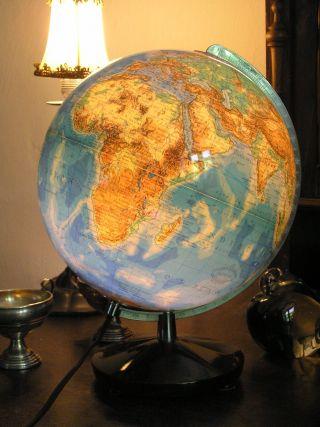Alter Columbus Globus Holzfuß Beleuchtung Duplex Oestergaard Germany Erdglobus Bild