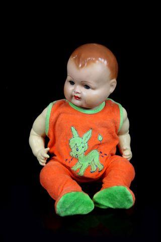 Antike Sammelpuppe Um 1930 Baby Schlafaugen 54 Cm Zelluloid Masse Sammler Puppe Bild