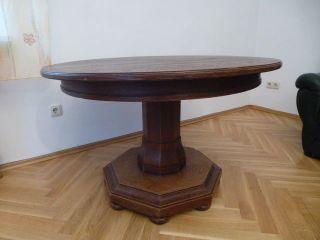Tisch,  Eiche,  Massiv Holz,  Um 1930 Bild