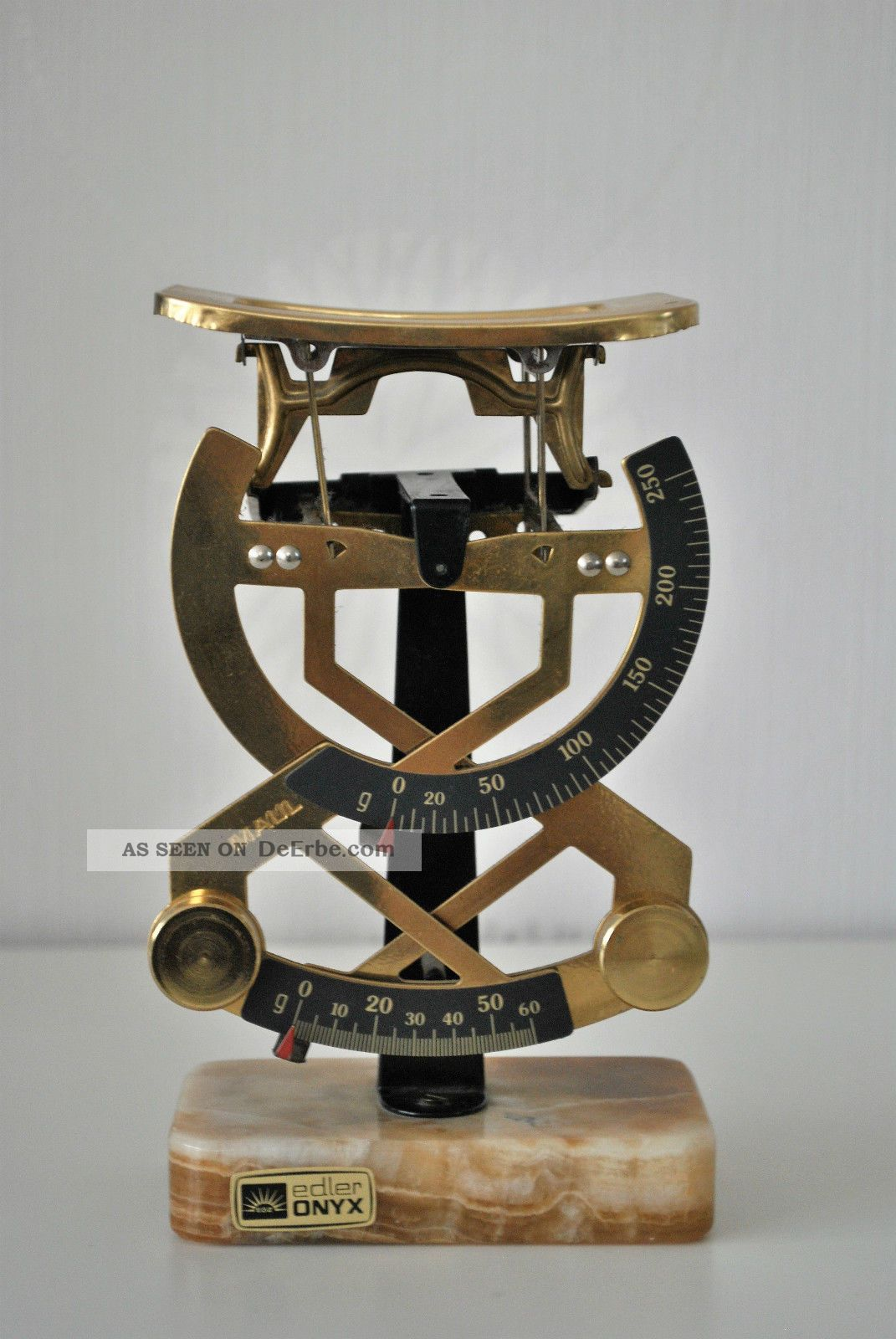 Maul Briefwaage Bilateral,  Mit Onyx Standfuß Kaufleute & Krämer Bild