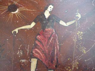 Alte Holzkiste - Antike Holztruhe - Holzkästchen Bemalt Bild