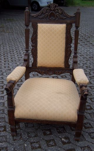 Wunderschöner Antiker Gründerzeit Armlehnensessel - Sessel - S.  Fotos Bild