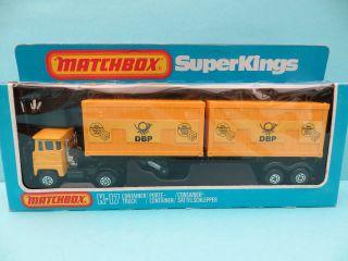 Matchbox K - 17 Container - Truck Deutsche Bundespost (dbp) In Ovp Bild
